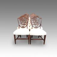 Set of 10 Hepplewhite mahogany shieldback chairs