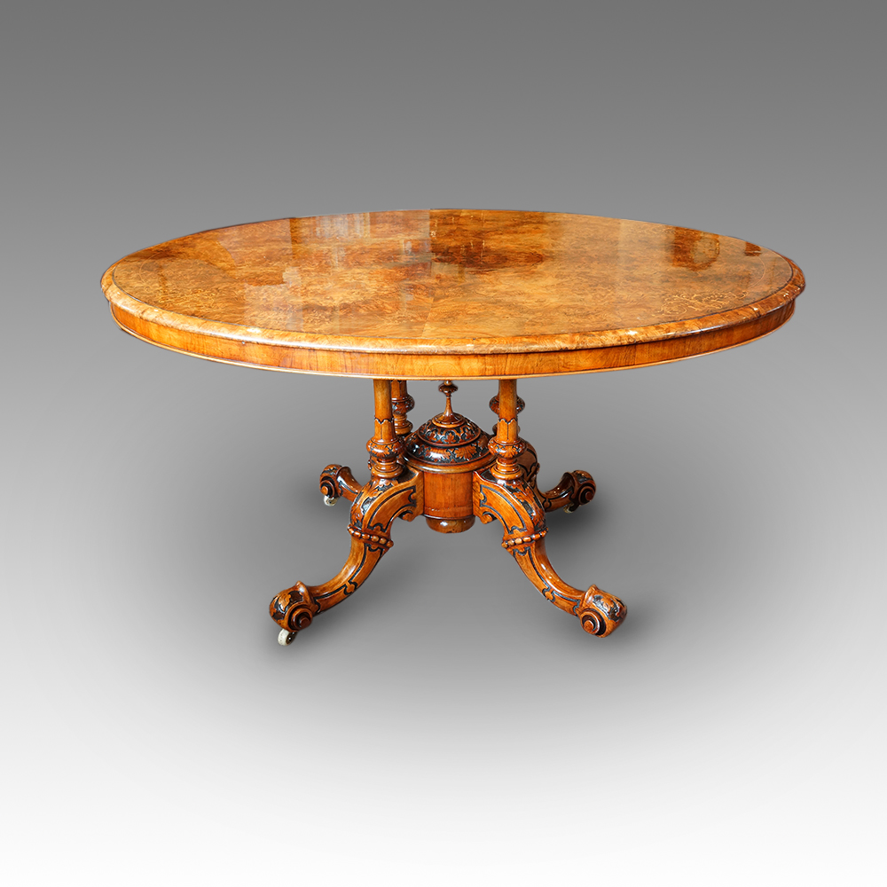Inlaid Dining Table Victorian Inlaid Walnut Oval Dining Table Hingstons Antiques Dealers