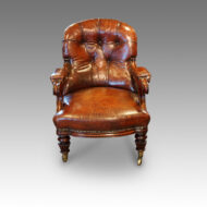 William IV mahogany easy chair