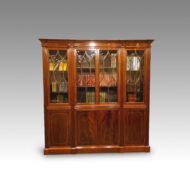 19thc. mahogany inlaid small library bookcase