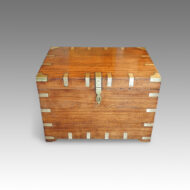 Antique brass bound campaign trunk