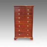 Edwardian inlaid mahogany tall chest