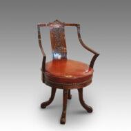 Edwardian mahogany revolving desk chair