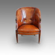 Edwardian tub shaped library chair