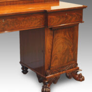 William IV mahogany pedestal sideboard,1