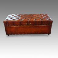 Edwardian Leather Ottoman