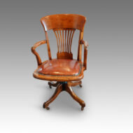 Edwardian walnut revolving desk chair