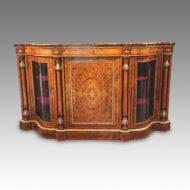 Fine Victorian inlaid walnut credenza