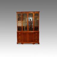 Maple & Co. mahogany breakfront bookcase