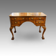 Queen Anne style walnut dressing table