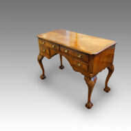 Queen Anne style walnut dressing table detail
