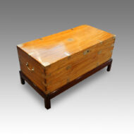 Victorian camphor trunk on stand top view