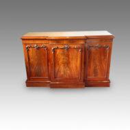 Victorian mahogany breakfront sideboard