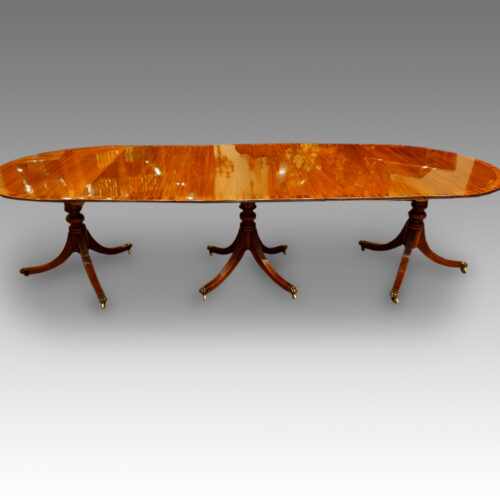 Side view of mahogany Regency table