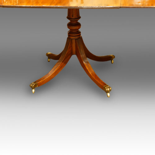 Centre pedestal of dining table