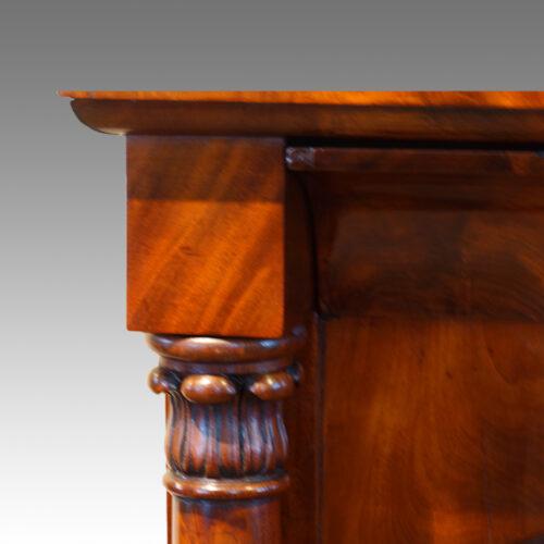Victorian mahogany turning