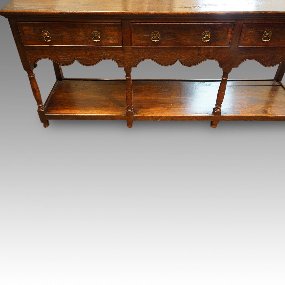 Antique cross-banded oak potboard dresser base | Hingstons Antiques ...