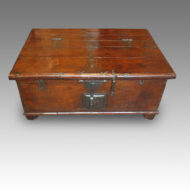 Antique hardwood Colonial merchants chest