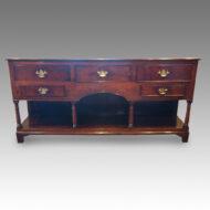 Antique oak potboard dresser base