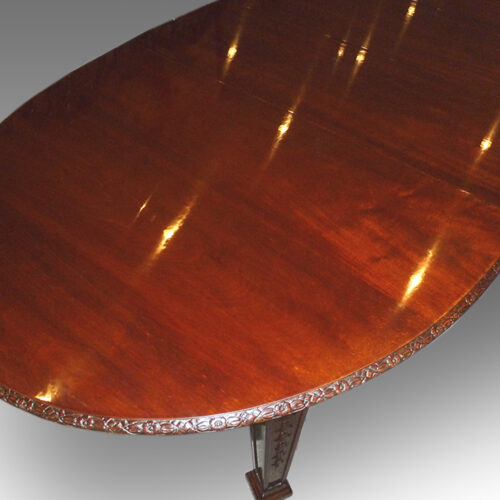 Edwardian mahogany Waring & Gillow dining table