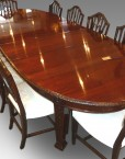Dining room table in setting