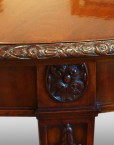 Edwardian dining table carved paterae