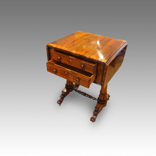 Drawers of antique table