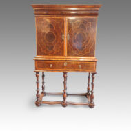 William & Mary cabinet on stand