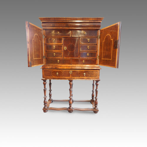 William & Mary cabinet on stand,1