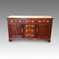 Georgian oak cupboard dresser