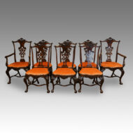 Set of 8 Antique dining chairs. Portugese