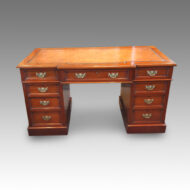 Victorian walnut double pedestal desk