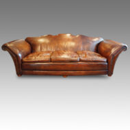 Edwardian country house leather sofa