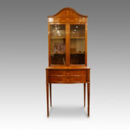 Edwardian inlaid bookcase display cabinet