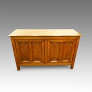 Edwardian oak cupboard