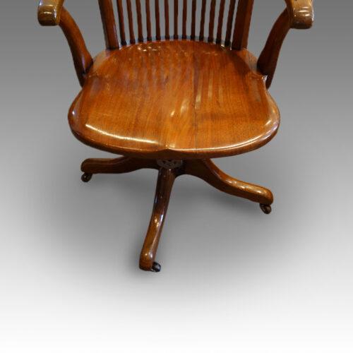 Walnut desk chair seat