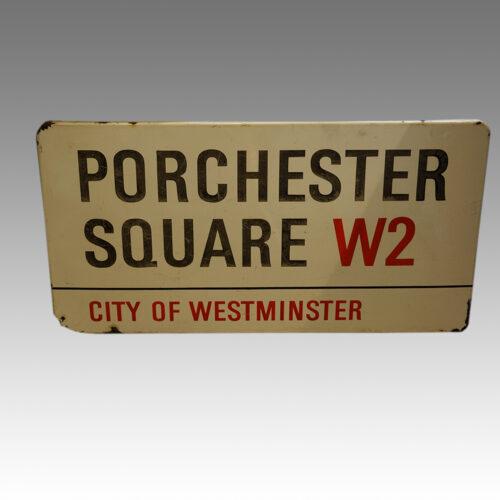 Original enamel London Street sign