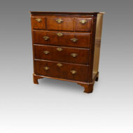 Queen Anne walnut chest,canted corners