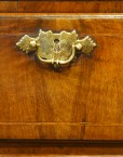 Walnut chest with herringbone banding