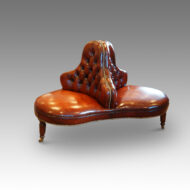 Victorian leather conversation seat