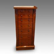Victorian mahogany Wellington chest