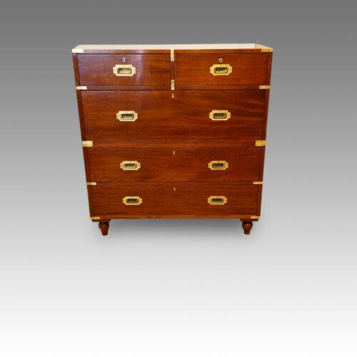 Victorian mahogany military chest