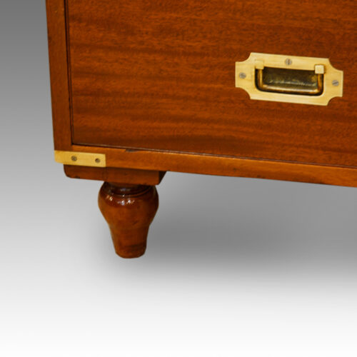 Victorian 2 part military chest