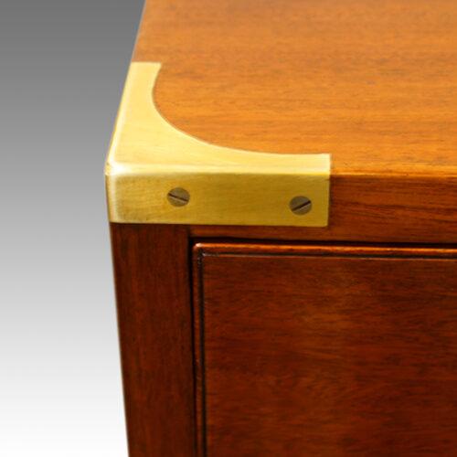 Victoran brass cornered chest