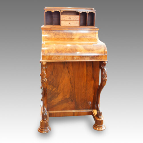Victorian walnut 'pop up' piano top Davenport desk