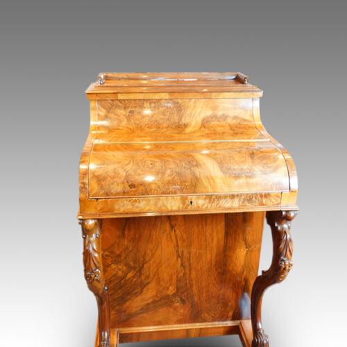 Victorian walnut 'pop up' piano top Davenport desk,2