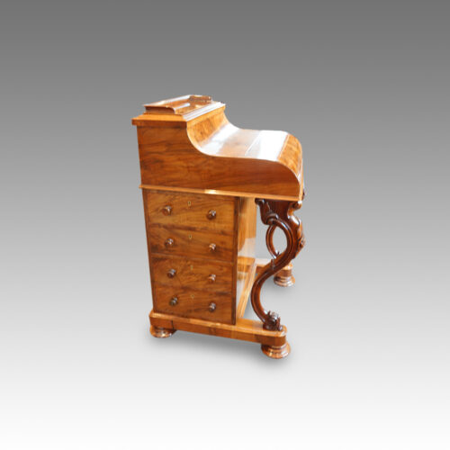 Victorian walnut 'pop up' piano top Davenport desk,3