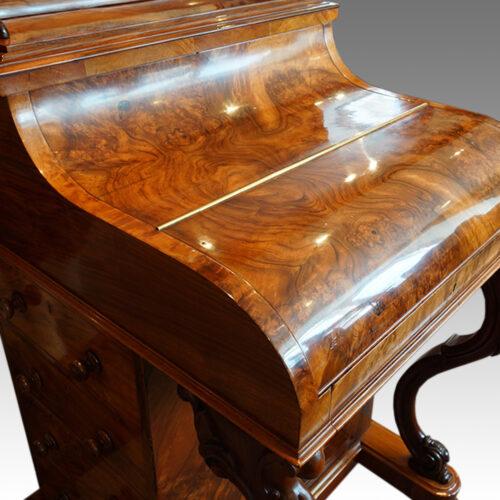 Victorian walnut 'pop up' piano top Davenport desk,5