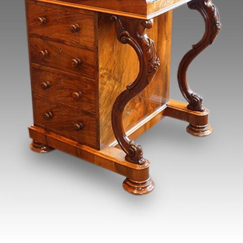 Victorian walnut 'pop up' piano top Davenport desk,6