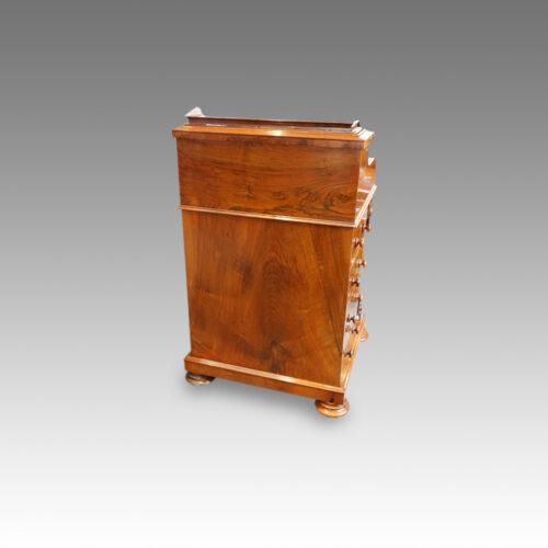 Victorian walnut 'pop up' piano top Davenport desk,7
